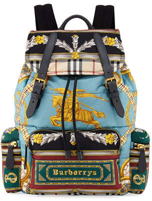 Burberry Men's Archive Scarf-Print Rucksack Backpack