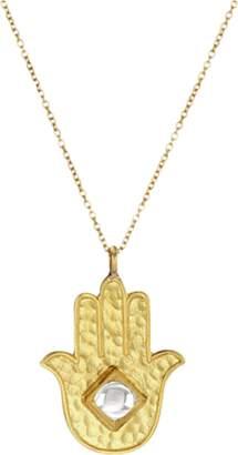 Amrapali Legend Kundan Vintage Diamond Hamsa Necklace