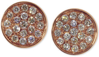 Effy Diamond Round Stud Earrings (3/8 ct. t.w.) in 14K Rose Gold