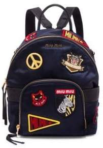 Miu Miu Patched Mini Backpack
