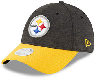 New Era Women's Pittsburgh Steelers On Field Sideline Home 9FORTY Strapback Cap