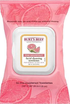 Burt's Bees Burts Clnse Towelette Gra Size 30ct Burts Cleasing Towel Pink Grapefruit 30ct
