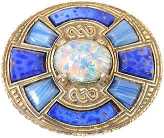 One Kings Lane Vintage 1960s Miracle Celtic Opal Glass Brooch - Neil Zevnik