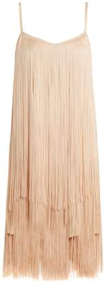 Raey Long-fringe slip dress