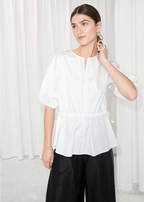 And other stories Drawstring Waist Blouse