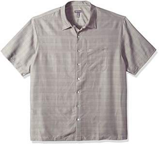 Van Heusen Men's Big and Tall Poly Rayon Short Sleeve Button Down Shirt