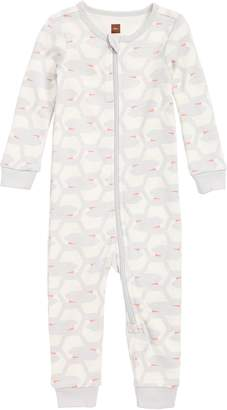 Tea Collection Fitted One-Piece Pajamas