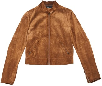 Gucci Brown Suede Jackets