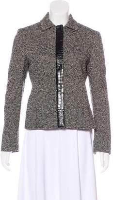 Max Mara Leather-Trimmed Bouclé Jacket