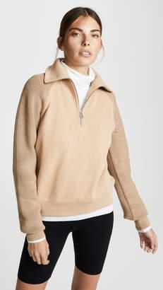 Helmut Lang Sweater Combo Zip Sweatshirt