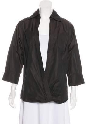 Kaufman Franco KAUFMANFRANCO Long Sleeve Silk-Blend Top