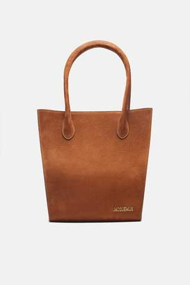 Jacquemus Le Petit Baya Shopper - Brown Nubuck