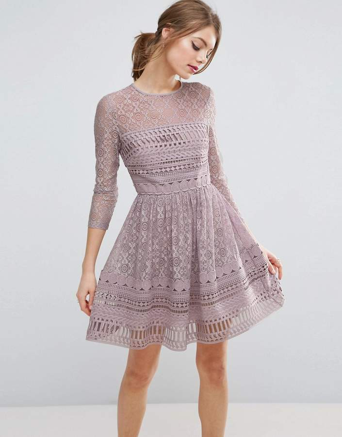Asos ASOS PREMIUM Lace Skater Dress