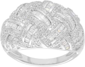 Affinity Diamond Jewelry Pave' Diamond Basketweave Ring, 14K, 3/4 cttw, by Affinity