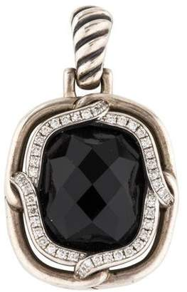David Yurman Onyx & Diamond Small Labyrinth Pendant