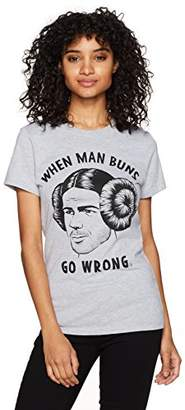 Goodie Two Sleeves Junior's Man Buns Go Wrong HGR Tee