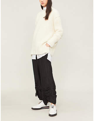 Isabel Benenato Round-neck alpaca-blend chunky-knit jumper