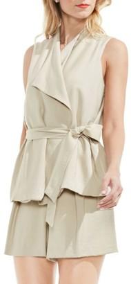 Women's Vince Camuto Belted Drape Front Vest $139 thestylecure.com