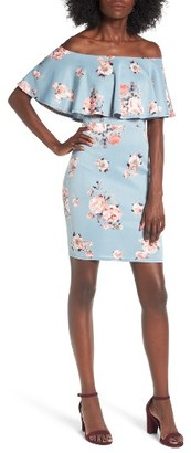 Women's Soprano Floral Off The Shoulder Dress $49 thestylecure.com