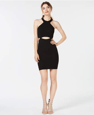 Speechless Juniors' Cutout-Waist Halter Dress, Created for Macy's