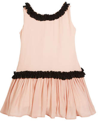Helena Sleeveless Georgette Ruffle Dress, Size 7-14