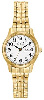 Citizen Women's Eco-Drive Flexible Band Gold-Tone Watch #EW3152-95A