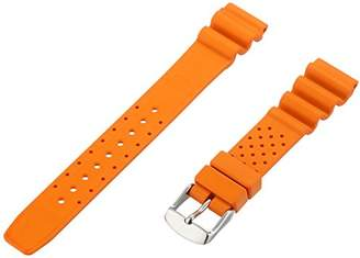 Momentum ZC-18RUH ORANGE 18mm Hyper Rubber Orange Watch Strap