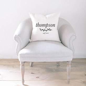 Laurèl Pillow_Cushion Personalized Throw Pillow - Last Name with Laurel, Choose Your Favorite Fabric Color, Text Color, Font Design, Cover Size and Fill!