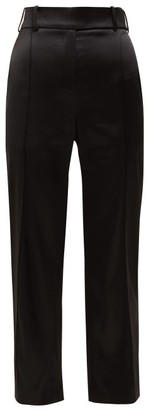 Alexandre Vauthier Slim Fit Satin Trousers - Womens - Black