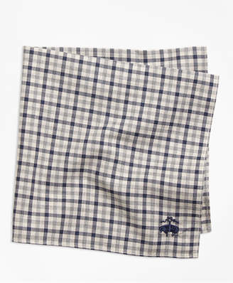 Brooks Brothers Check Pocket Square