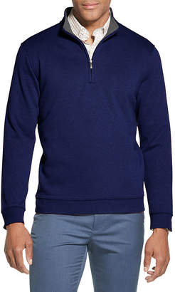 Van Heusen Flex Fleece Mens Mock Neck Long Sleeve Quarter-Zip Pullover