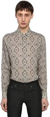 Saint Laurent Yves Paisley Printed Wool Shirt