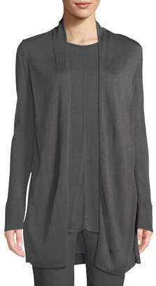 Nic+Zoe Reset Open-Front Long-Sleeve Cardigan w/ Contrast Back, Plus Size
