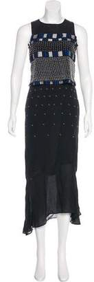 Jonathan Simkhai Silk Embellished Dress