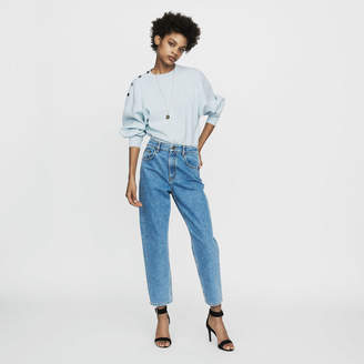 Maje Wide jeans in distressed denim