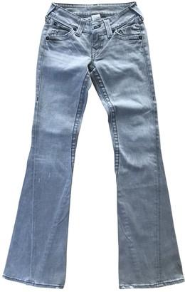 True Religion Grey Cotton - elasthane Jeans for Women