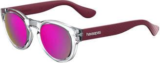 Havaianas Trancosom Clear Sunglasses w/ Rubber Arms