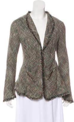 Theyskens' Theory Tweed Long Sleeve Blazer