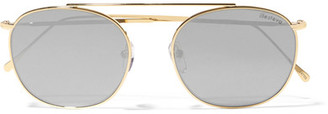 Illesteva - Mykonos Round-frame Gold-tone Mirrored Sunglasses - one size $175 thestylecure.com