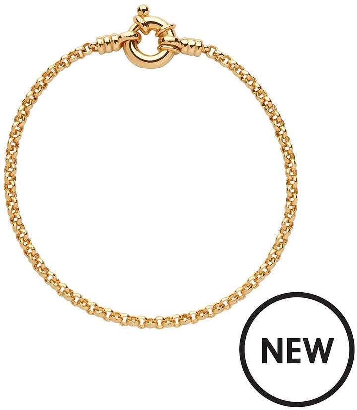 Sterling Silver 18kt Yellow Gold Vermeil Belcher Bracelet