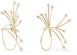 Ellery Rarig Gold-plated Pearl Earrings