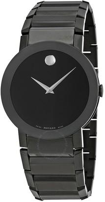 Movado Sapphire PVD Black Bracelet Men's Watch