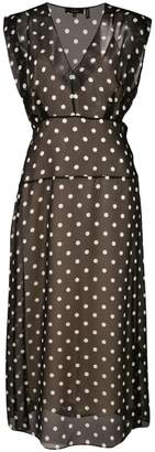 Theory polka dot casual dress