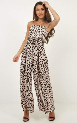 Showpo Proceed With Caution jumpsuit in leopard print