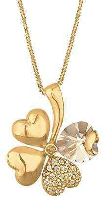 Goldhimmel Women's 925 Sterling Silver Xilion Cut Clover Leaf Heart Pendant Necklace Length of 45 cm