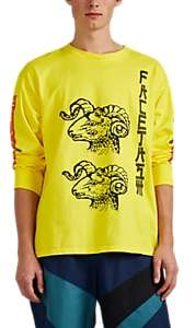 Facetasm Men's Ram-Print Cotton T-Shirt - Yellow