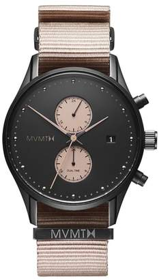 MVMT Voyager Chronograph Canvas Strap Watch, 42mm