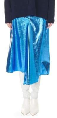 Tibi Slouch Draped Midi Skirt