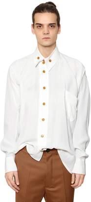 Vivienne Westwood Viscose Shirt W/ Asymmetric Collar