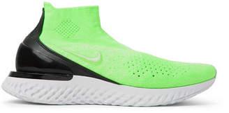 Nike Running Rise React Flyknit Slip-On Running Sneakers